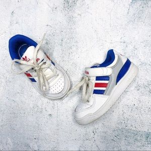 ADIDAS • Retro Red & Blue Striped Sneakers